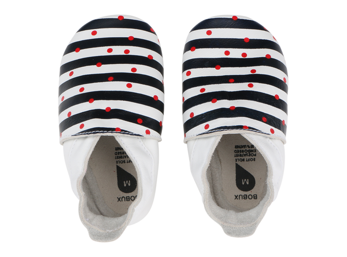 Spots and Navy Stripes